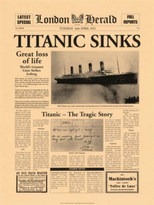 the titanic disaster essay Just as the movie has a heart-breaking disaster, i too, in life, encounter misfortunate events that come my way  persuasive essay the 1997 film titanic became the.