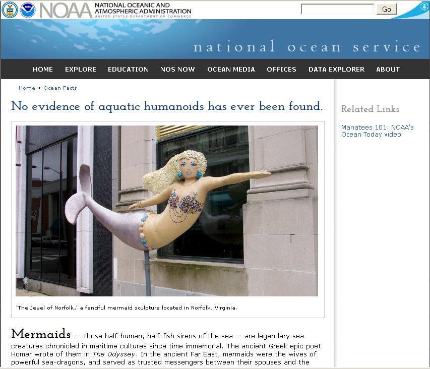 NOAA Nixes Mermaid Theories — No More Pressing Matters?   Common