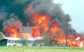 The end of the Waco standoff on April 19, 1993...20 years ago tomorrow.
