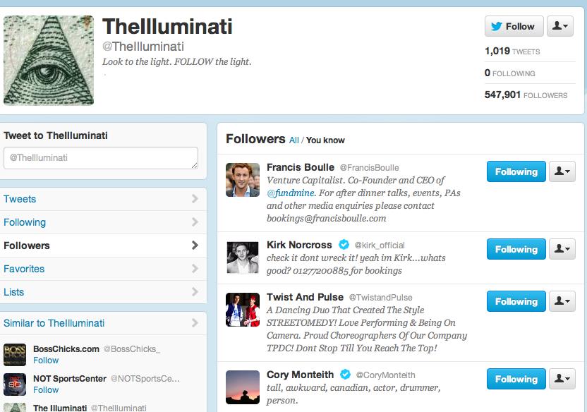 Corey Monteith Illuminati