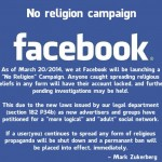 "Is Facebook Really Launching a ""No Religion"" Campaign?  Real or Hoax?"