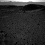Mars Rover Picks Up Shiny Light in the Distance on Mars Surface
