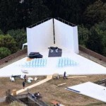 Overhead Photos of Kim and Kanye's Wedding Show Illuminati Pyramid Stage