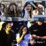 Crisis Actors in Paris — This Girl Has Some Really Bad Luck